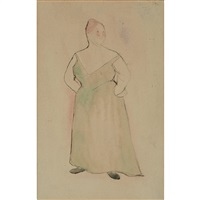 woman in evening dress by charles demuth