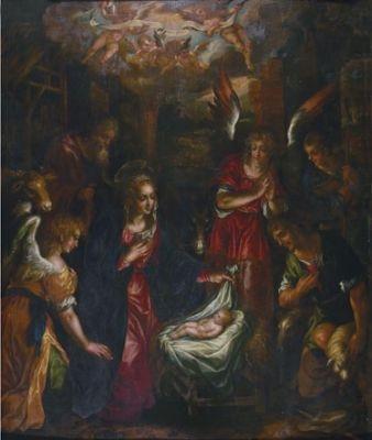 die anbetung der hirten by hendrick de clerck