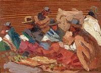 les péruviens au marché by henri sené