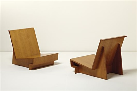 Usonian Chairs (pair) By Frank Lloyd Wright