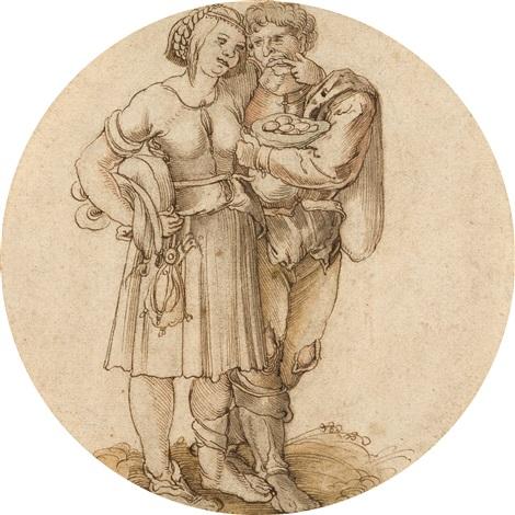 verliebtes bauernpaar by hans sebald beham
