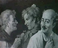 charlando en la taberna con la copita de orujo by jose serrano perez