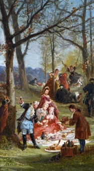 collation à fontainebleau by jules achille noel