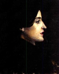 portrait of a lady in profile by ralph wormeley curtis