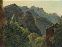 versant de la valleé de saint-vincent (auvergne) by théodore rousseau