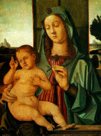the madonna and child by antonio de saliba