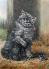 a grey kitten by adrienne lester
