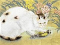 le chat et l'oiseau by georges manzana-pissarro