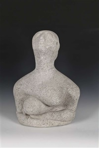 woman with arms folded by frederick edward mcwilliam