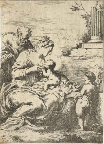 the virgin nursing the infant christ god father and the holy ghost 2 works by bartolomeo biscaino