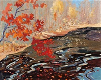 river maple by arthur george lloy
