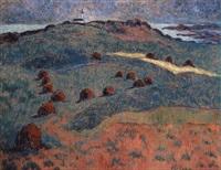 sur la lande bretonne by anne millasson