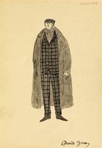 costume design for jonathan harker, dracula by edward gorey
