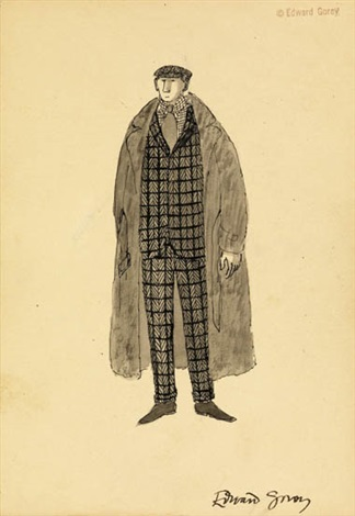 costume design for jonathan harker dracula by edward gorey