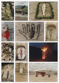 silueta works in mexico (set of 12) by ana mendieta