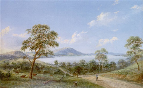 the yan yean from the woodstock road by henry c gritten