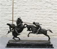 combat du duc de clarence et du chevalier de la fontaine by alfred-emile o'hara nieuwerkerke