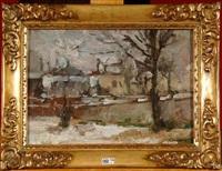 paysage de neige by victor simonin