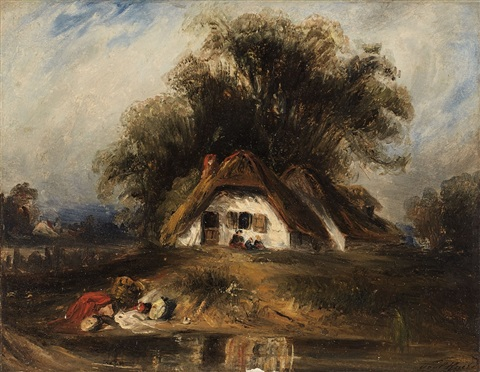 landscape with farmhouse by paul huet