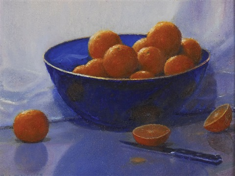still life with clementines study by peter tysver