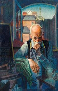 portrait of the artist (mr. whiffen) by francis criss