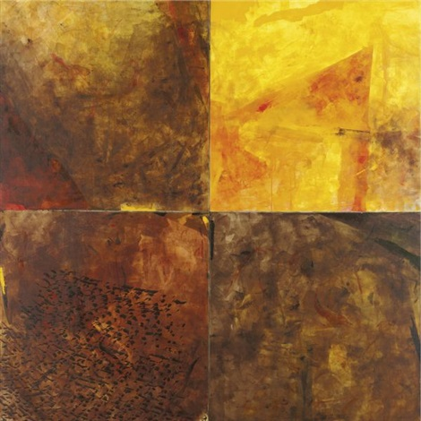 an untitled work in four panels by verma akhilesh