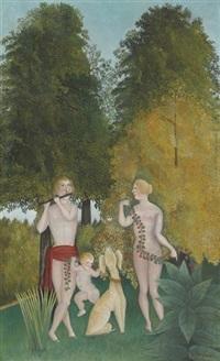 heureux quator by henri rousseau