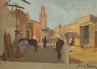 marrakech, rue bab el khemis, la mosquée ben salam by jean dulac