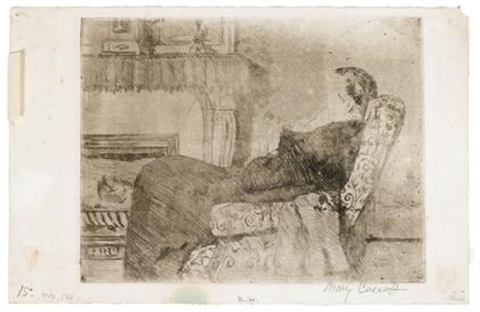 before the fireplace no 1 by mary cassatt
