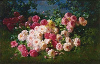 pink and red roses by abbott fuller graves