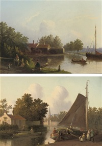 by the waterside (+ untitled; pair) by joseph bles