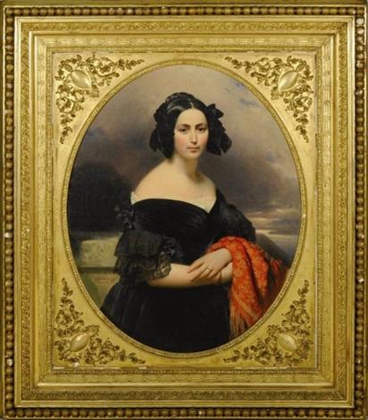 portrait de louise marie boquet de saint simon épouse dadolphe akermann by franz xaver winterhalter