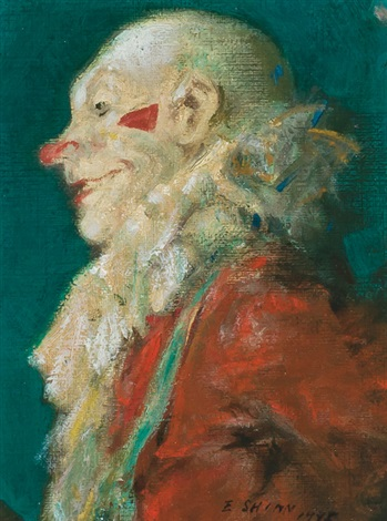 head of a clown by everett shinn