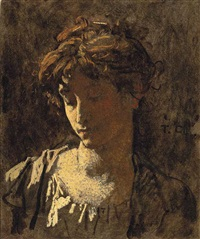 portrait de femme by thomas couture
