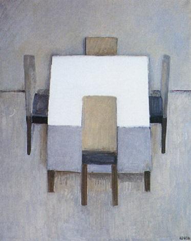 mesa con sillas by linda kohen
