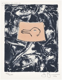 untitled (duck) (from harvey gantt) by jasper johns