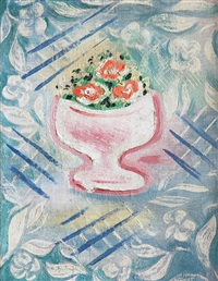 vase with flowers by josef capek