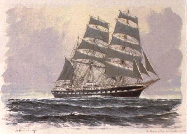 le trois mats barque belem by georges fouille