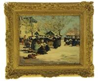 scène de marché à concarneau by fernand marie eugène legout-gérard