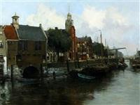 delfshaven rotterdam by willem george frederik jansen