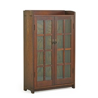 double-door bookcase by gustav stickley