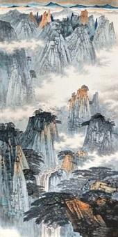 松壑飞泉 by xue liang