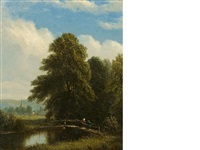 the darent, kent, england by sanford robinson gifford