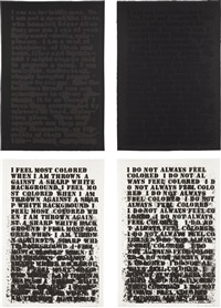 untitled (set of 4) by glenn ligon