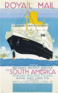 royal mail to south america, alcantara by kenneth shoesmith