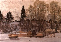 l'attelage en traineau by valerian formozov