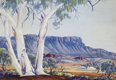 untitled white ghost gum by albert namatjira