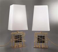 coppia di lampade da tavolo il prigione (pair) by roberto giulio rida