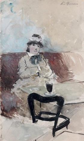 femme au verre dabsinthe by jean louis forain