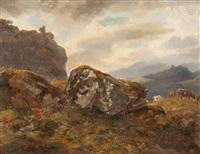 berglandschaft mit weidenden kühen by benno raffael adam